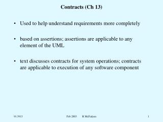 Contracts (Ch 13)