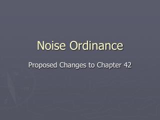 Noise Ordinance