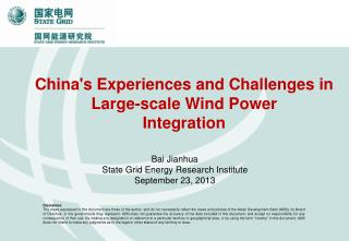 China's  Experiences and Challenges in Large-scale Wind  P ower  Integration