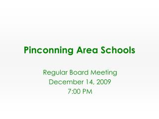 Pinconning Area Schools