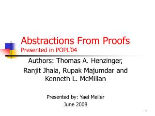 Abstractions From Proofs Presented in POPL'04