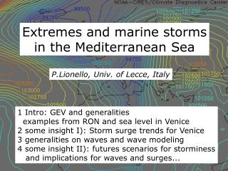 Extremes and marine storms in the Mediterranean Sea