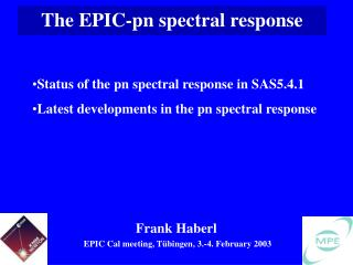 The EPIC-pn spectral response