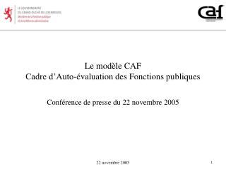 Le modèle CAF Cadre d'Auto-évaluation des Fonctions publiques