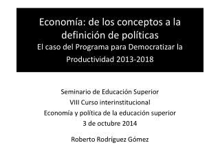 Seminario de Educación Superior VIII Curso interinstitucional
