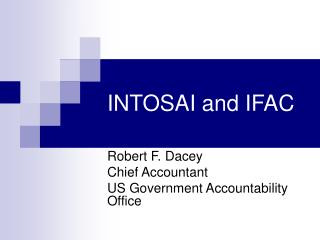 INTOSAI and IFAC