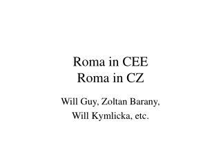 Roma in CEE Roma in CZ
