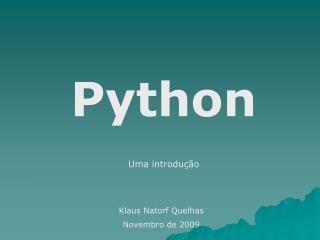 Python Uma introdução