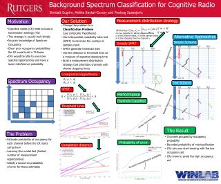 Background Spectrum Classification for Cognitive Radio