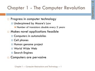 Chapter 1 - The  Computer Revolution