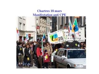 Chartres 18 mars Manifestation anti CPE
