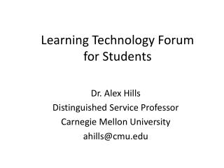 Learning Technology Forum  for Students