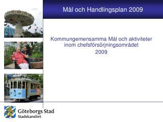 Kommungemensamma Mål och aktiviteter inom chefsförsörjningsområdet 2009