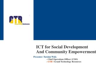 ICT for Social Development And Community Empowerment