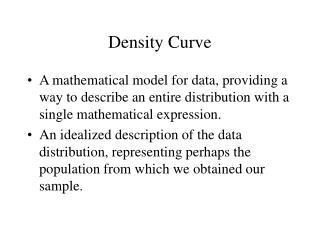 Density Curve
