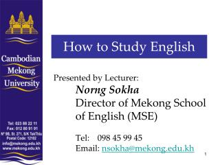 How to Study English
