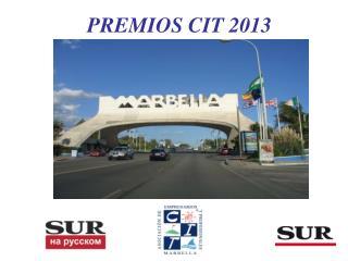 PREMIOS CIT 2013