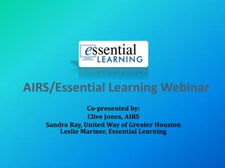 AIRS/Essential Learning Webinar
