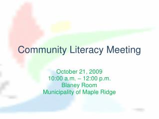 Community Literacy Meeting