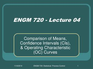 ENGM 720 - Lecture 04