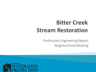 Bitter Creek  Stream Restoration