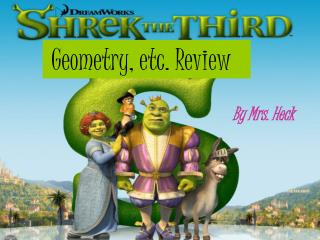 Geometry, etc. Review