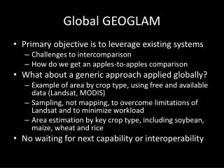 Global GEOGLAM