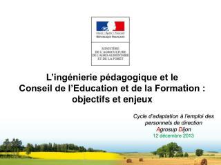 L'ingénierie pédagogique et le Conseil de l'Education et de la Formation : objectifs et enjeux