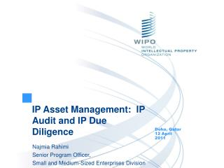 IP Asset Management:  IP Audit and IP Due Diligence