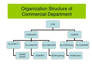 Organization Structure of Commercial Department