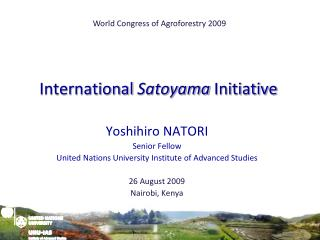 International  Satoyama  Initiative