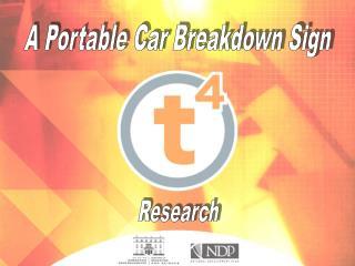 A Portable Car Breakdown Sign