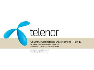 OFDM(A) Competence Development – Part IV