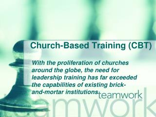 Church-Based Training (CBT)