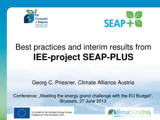 Best practices and interim results from  IEE-project SEAP-PLUS