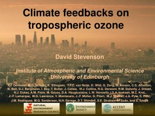 Climate feedbacks on tropospheric ozone