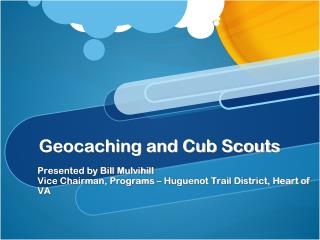 Geocaching and Cub Scouts