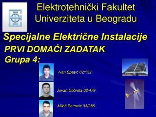 Elektrotehni čki Fakultet Univerziteta u Beogradu