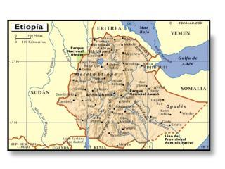 1.- Describe de manera general las características geográficas de Etiopía