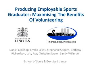 Producing Employable Sports Graduates:  Maximising  The Benefits Of Volunteering