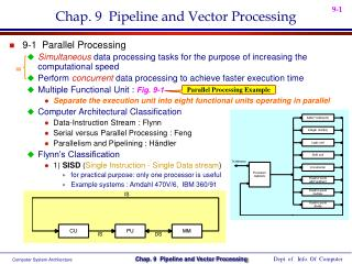 Chap. 9  Pipeline and Vector Processing