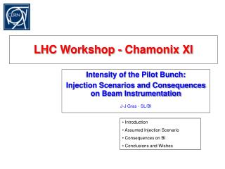 LHC Workshop - Chamonix XI