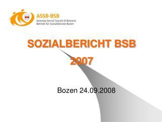 SOZIALBERICHT BSB 2007