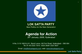 Agenda for Action 30 th  January, 2009, Hyderabad
