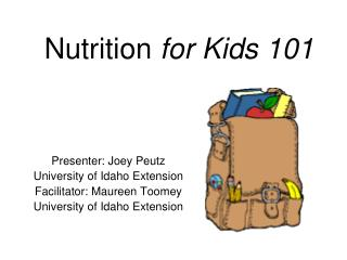 Nutrition  for Kids 101
