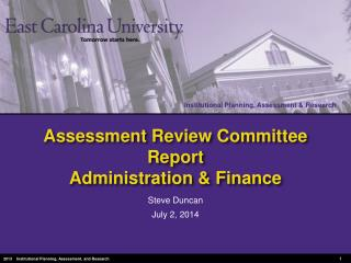 Assessment Review Committee Report Administration & Finance