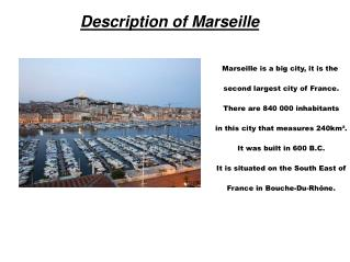 Description of Marseille