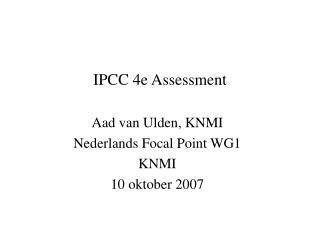 IPCC 4e Assessment