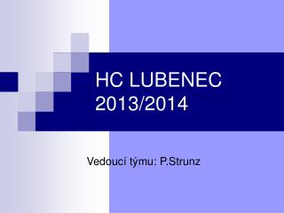 HC LUBENEC 2013/2014