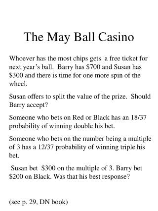 The May Ball Casino